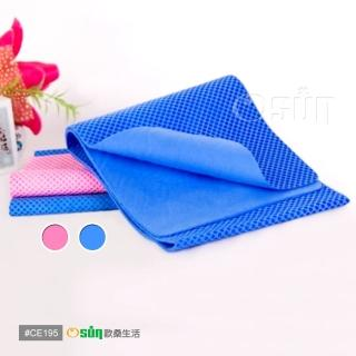 【OSun】防曬降溫消暑日韓流行冰涼巾PVA(12入)