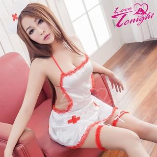 【LOVE TONIGHT】療癒春心.護士服(T9221-白-F)