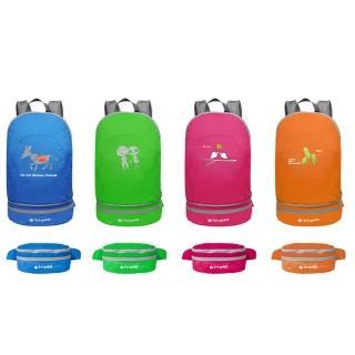 【PUSH! 戶外登山旅遊用品】可當腰包登山背包騎行包旅行包萬用旅行袋收納袋(一入)