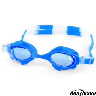 【熱浪兒童泳鏡】QUICK純矽膠防霧泳鏡+泳帽組(可愛跑車盒)