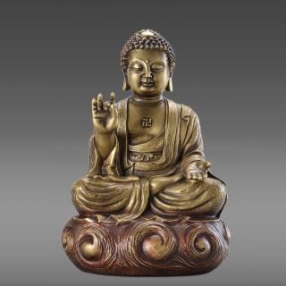 【雕塑藝術大師 羅廣維】佛陀(釋迦牟尼佛 銅雕)