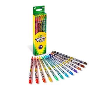 【美國crayola繪兒樂】旋轉12色彩色鉛筆