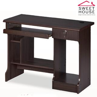 【甜美家】凱特3.3尺電腦書桌(經典胡桃色系)