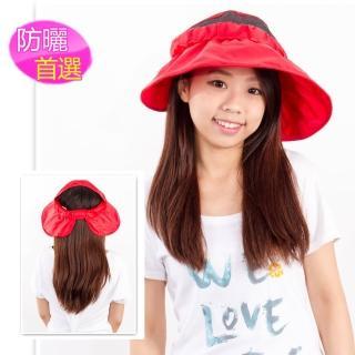 【戀夏好物】韓版遮陽帽(紅)