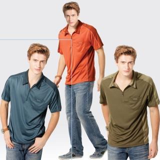 【SAMLIX 山力士】男款 MIT 台灣製  吸濕排汗 椰碳紗   短袖  POLO衫#SP105(橘色.丈青.棕色)