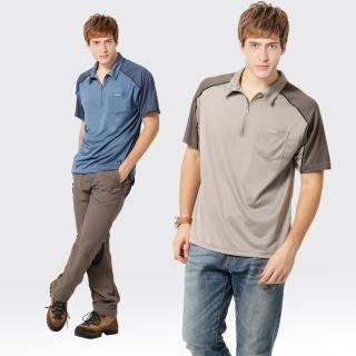 【SAMLIX 山力士】男款 MIT 台灣製  吸濕排汗 陶瓷紗   短袖  POLO衫#SP107(灰色.藍色)