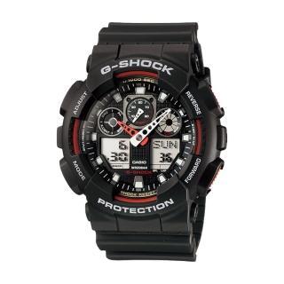【CASIO 卡西歐 G-SHOCK 系列】重型機械感強悍狂野型男錶(GA-100 3色可選)