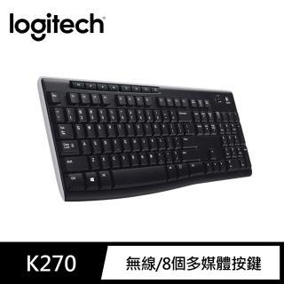 【Logitech 羅技】無線鍵盤 K270