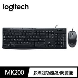 【Logitech 羅技】有線鍵盤滑鼠組 MK200