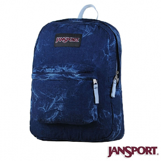 【Jansport】25L 丹寧風格後背包(丹寧藍)