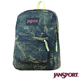 【Jansport】25L 丹寧風格後背包(丹寧綠)