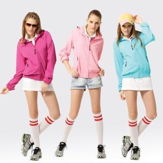 【SAMLIX 山力士】女 抗UV 輕薄 休閒 風衣 外套#WJ621(紫色.藍色.粉紅)
