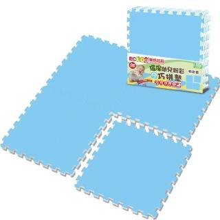 【LOG 樂格】環保粉彩巧拼地墊2cm -超值任選4組 共16片(買就送-樂格 玩具地墊潔菌液250ml)
