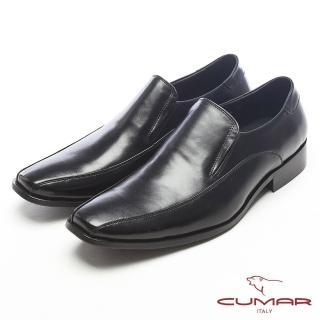 【CUMAR】真皮質感-紳士專屬真皮皮鞋(黑)