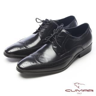 【CUMAR】浪漫英倫-溫柔紳士真皮牛津鞋(黑)