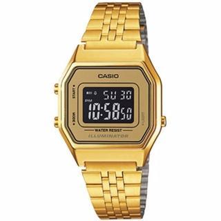 【CASIO 卡西歐】復古數字型電子系列錶款(金/28.6mm)