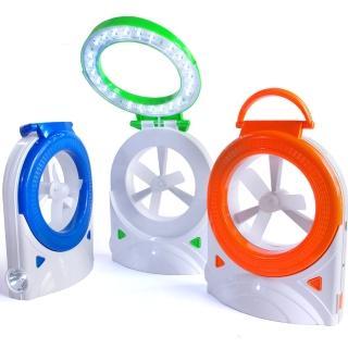 三合一桌扇加照明燈完美組合/手電筒(USB/電池兩用)