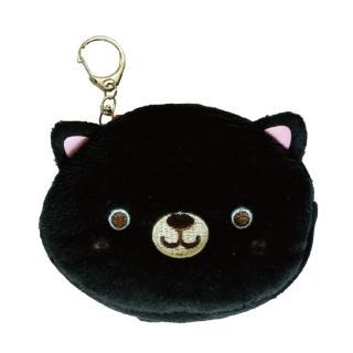 【UNIQUE】動物樂園毛絨零錢包(小黑貓)