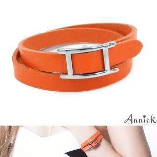 【Annick】Hapi真皮皮革雙圈手環(愛瑪橘)