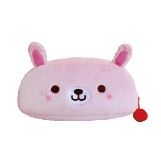 【UNIQUE】動物樂園毛絨筆帶(粉紅兔)