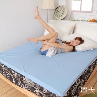 【Lust 生活寢具 台灣製造】3.5尺備長炭記憶床墊蛋型設計矽膠床墊日本原料附3M布套(備長炭記憶床墊)