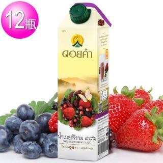 【即期品】皇家農場 100%鮮果汁-草莓汁(1000mlx12瓶)