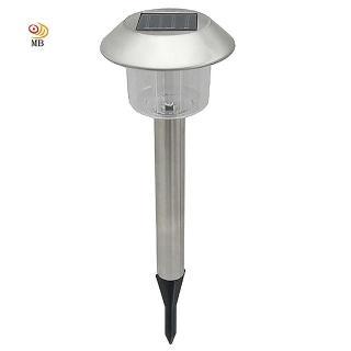 【月陽】銀帽太陽能充電式自動光控開關LED庭園燈草坪燈插地燈(5004A)