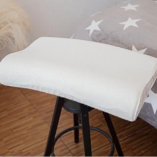 【Lust 生活寢具 台灣製造】矽膠太空記憶枕《專櫃 薰衣草/人體工學款》柔軟高密款˙專櫃專賣(米白)