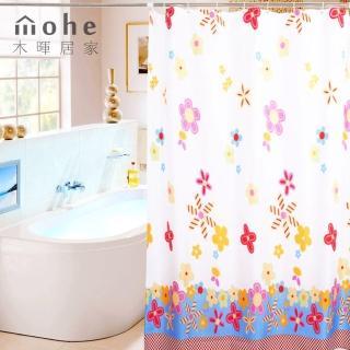 【御工匠】時尚高級加厚型防水浴簾-可愛花朵
