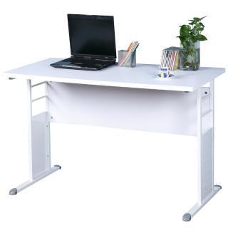 【Homelike】巧思辦公桌 亮白系列(白色加厚桌面120cm)