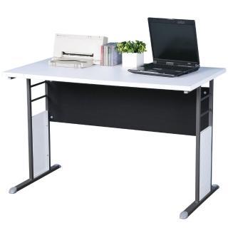 【Homelike】巧思辦公桌 炫灰系列(白色加厚桌面120cm)