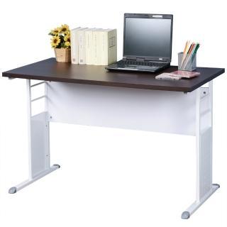 【Homelike】巧思辦公桌 亮白系列(胡桃加厚桌面120cm)