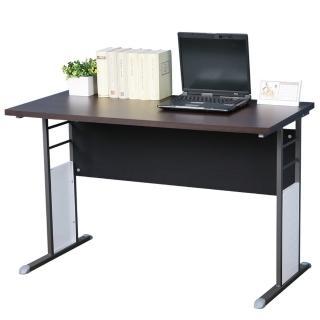 【Homelike】巧思辦公桌 炫灰系列(胡桃加厚桌面120cm)