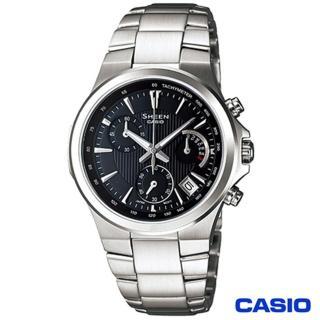 【CASIO卡西歐】SHEEN光芒紋路個性計時女錶(SHE-5019D-1A)