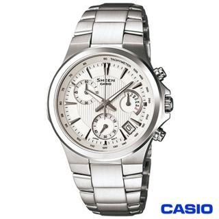 【CASIO卡西歐】SHEEN光芒紋路時尚計時女錶(SHE-5019D-7A)