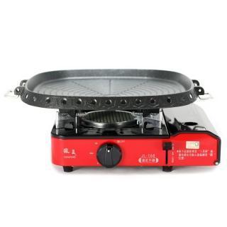 【☆中秋節熱銷☆】歐王-卡式休閒爐JL-168+ Hanaro方型條紋烤盤
