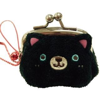【UNIQUE】動物樂園迷你珠扣零錢包(小黑貓)