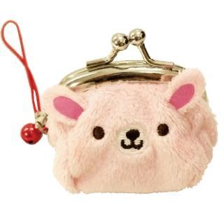 【UNIQUE】動物樂園迷你珠扣零錢包(粉紅兔)