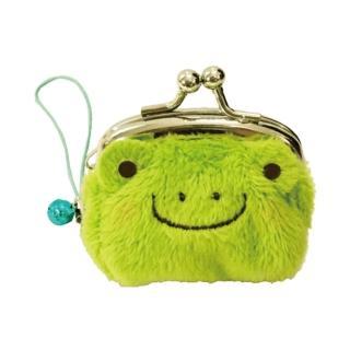 【UNIQUE】動物樂園迷你珠扣零錢包(小蛙君)