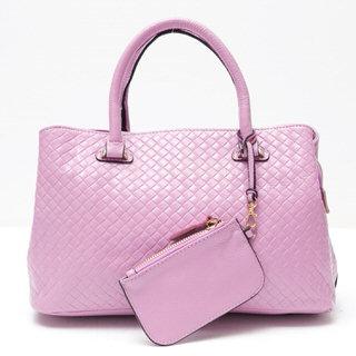 【Ve vitalise】立體編織造型時尚包(粉紫色)