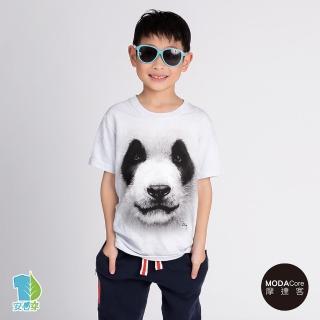 【摩達客-現貨】美國進口The Mountain 熊貓胖達臉 設計T恤