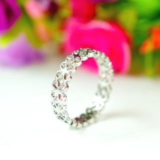 【E&I】-期待愛- 316L白鋼造型戒指(銀)