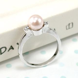 【伊飾童話】純色明眸*粉色珍珠戒指