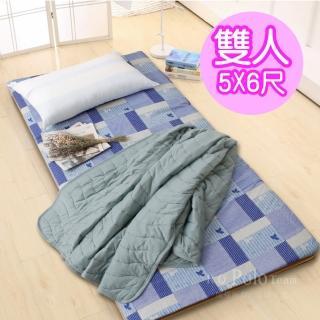 【R.Q.POLO】大青竹軟式三折式冬夏兩用床墊(雙人5X6尺)