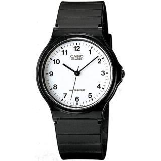 【CASIO 卡西歐】極簡時尚指針石英錶(白面/35mm)