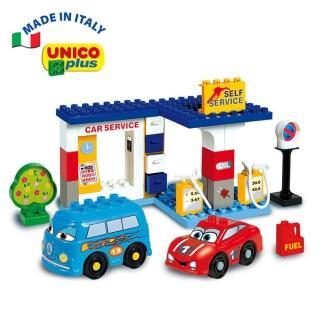 【義大利Unico】CARS加油站洗車組合(新春玩具節大推薦)
