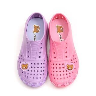 【童鞋城堡】拉拉熊懶懶熊超輕量洞洞懶人鞋(KM8244)