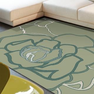 【范登伯格】夏蔓柔光絲質感地毯-玫瑰綠(200x290cm)
