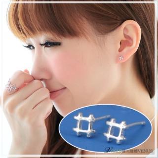 【維克維娜】井字遊戲。可愛造型井字925純銀耳環