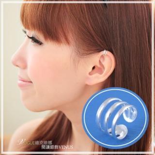 【維克維娜】率性簡約。圓流線極簡造型925純銀耳骨夾。單支售